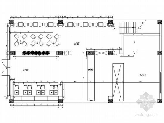 简约小清新快餐厅室内装修施工图(含效果)