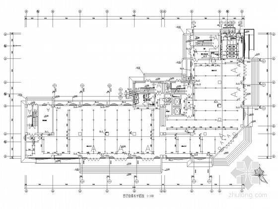 高层办公楼给排水、空调水系统及消防系统施工图