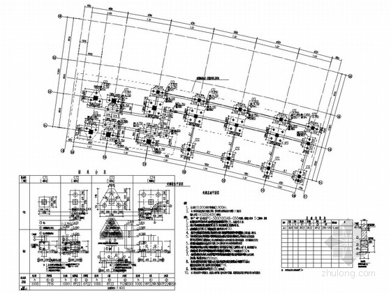 [江苏]七层框架结构科技馆结构施工图(带连廊)