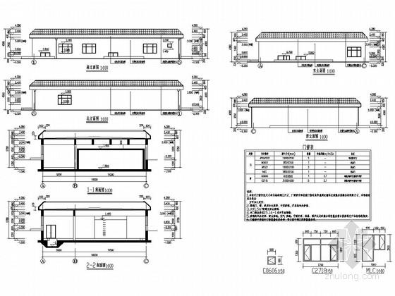 [农村水泵房]砌体结构设备房结构图(含建筑图)