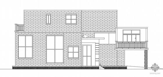 某二层有错层砖混小别墅建筑设计方案(有效果图)
