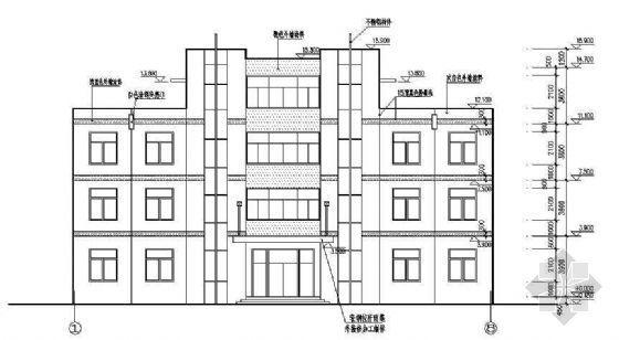 某框架办公楼建筑结构图纸及PKPM电子计算书