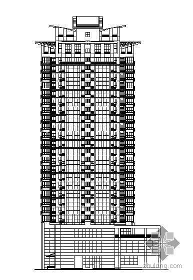 [南京]某高层住宅楼建筑结构水电施工图(有效果图带人防工程)