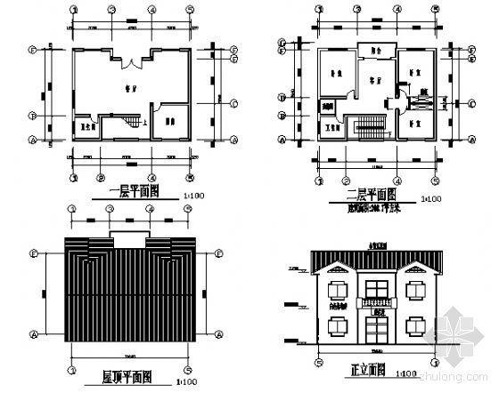 私人住宅别墅户型图集(21个)