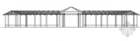 亭廊建筑钢结构施工图