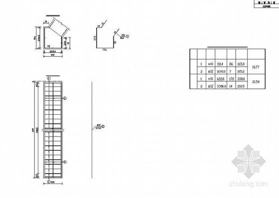双孔拱桥拱脚垫石钢筋构造节点详图设计