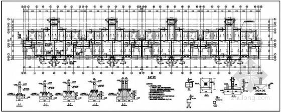 巢湖市某6层砖混住宅结构设计图(2号楼)