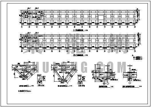 单跨带吊车的钢结构厂房施工图