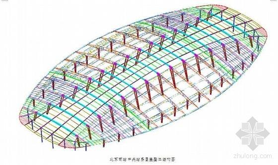 北京某火车站站房及雨棚钢结构工程施工方案(三角空间管桁架 图文并茂)
