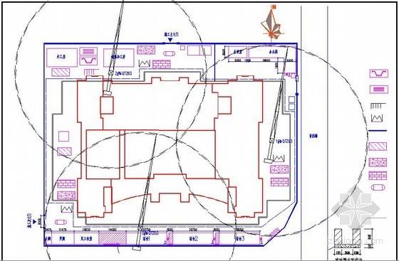 [重庆]办公楼项目施工阶段平面布置图
