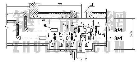 分户计量图库大全(2)-带热量表建筑供暖入口平剖面图