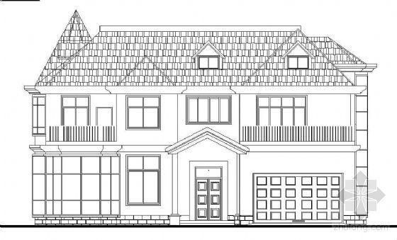 [广东]某三层坡屋顶小型别墅建筑结构施工图(带效果图)