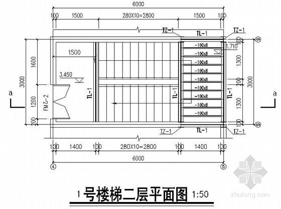 4S店钢框架结构钢楼梯节点构造详图