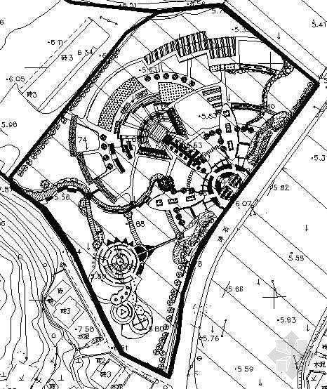 某广场景观设计平面图