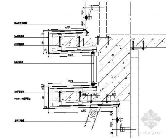 MQ2、MQ3三层楼板纵剖节点图二