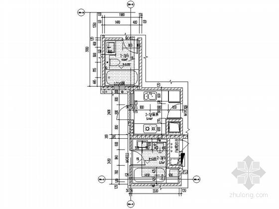 [四川]160米独栋现代风格住宅楼设计施工图(知名建筑设计院)-160米独栋现代风格住宅楼平节点详图