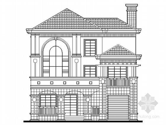 [湖南]某三层坡地别墅建筑施工图