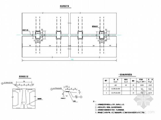 2×10m预应力混凝土简支空心板桥铰缝连接钢板构造详图