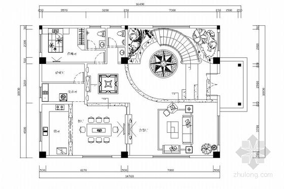 花园式住宅区欧式风格三层别墅装修图(含效果图)