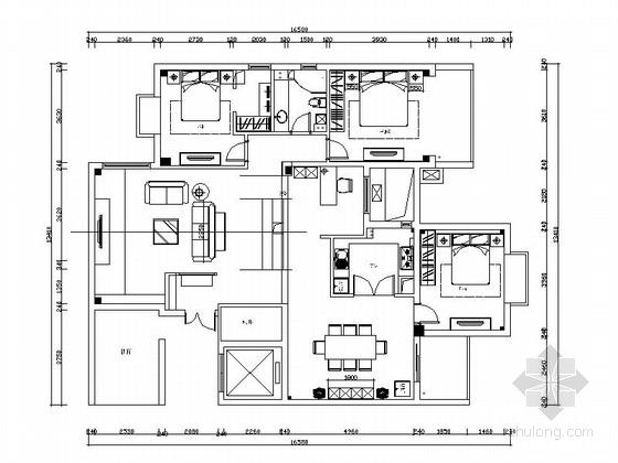 [深圳]某简欧设计风格三室两厅装修图