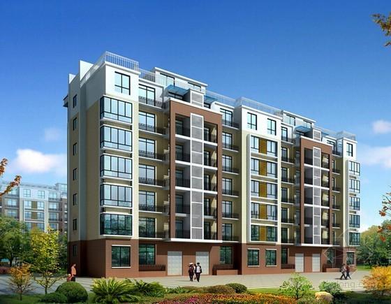 [山西]大型住宅区建筑安装工程投标报价书(附全套CAD图纸)