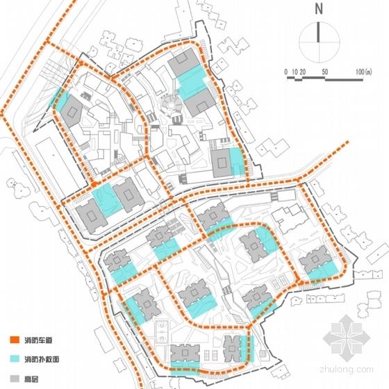 [重庆]围合式空间城市综合体规划设计方案文本(设计精彩推荐参考)-围合式空间城市综合体规划分析图