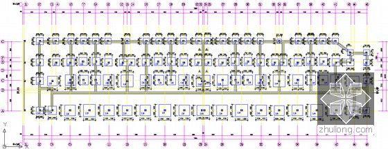 [安徽]三栋小区居民楼建设安装工程预算书(全套图纸软件文件)-基础平面图