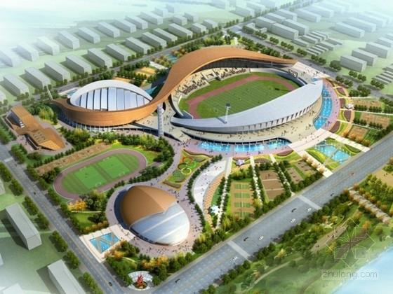 [山东]某体育中心规划及建筑设计方案文本(含CAD)