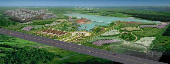 龙池公园绿化方案鸟瞰图