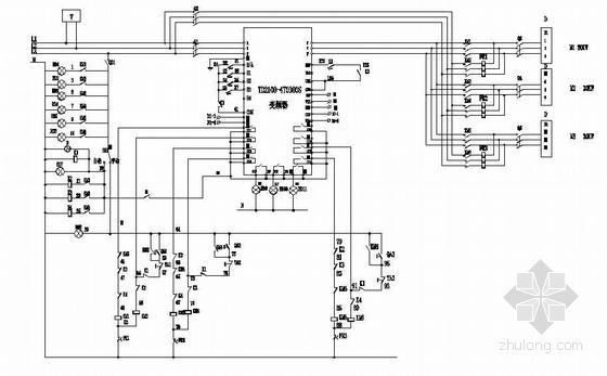 变频控制器(一拖三)原理图