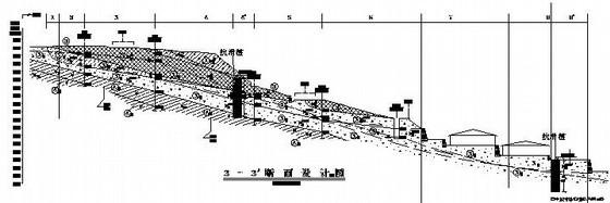 某殡仪馆地质灾害治理工程地质剖面图