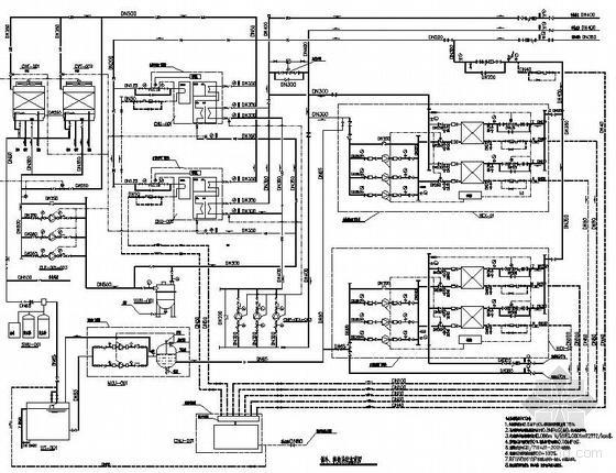 某化工厂中央制冷换热站图纸