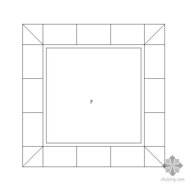 特色方形树池施工大样图1