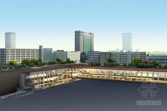 地铁工程超长区间三层三跨岛式车站全标段施工组织设计(332页附CAD图大量表格)
