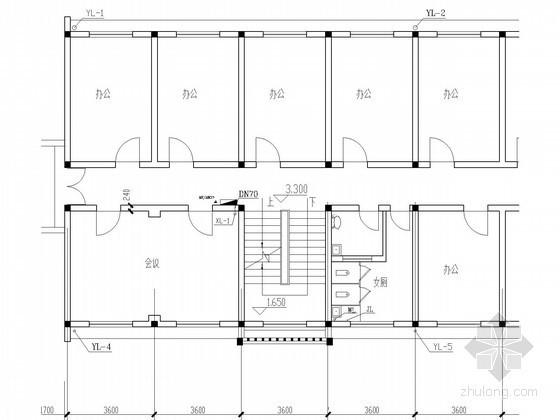 [海南]五层学校办公楼给排水消防施工图(15年最新设计 附计算书)