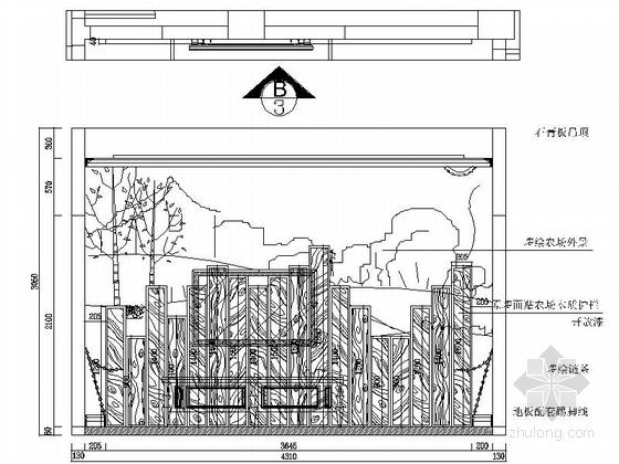 [石家庄]综合性社区典雅欧式复式装修图(含实景)起居室立面图