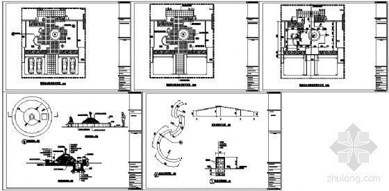 重庆别墅区16#四合院内庭景观施工图-3