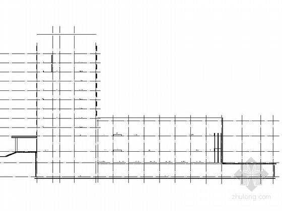 [四川]现代风格高层商务酒店建筑设计方案图-现代风格高层商务酒店建筑剖面图