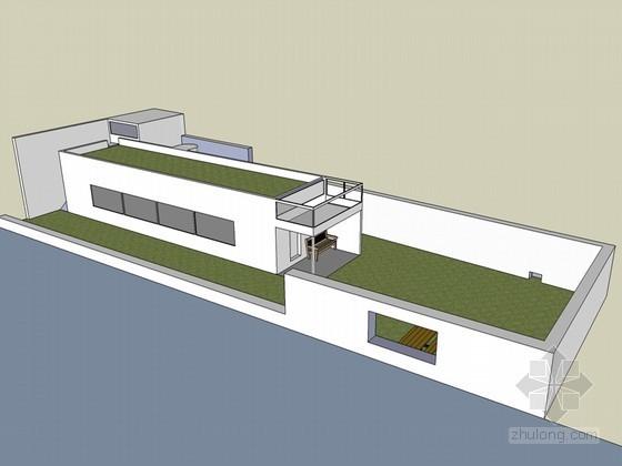 现代庭院建筑SketchUp模型下载