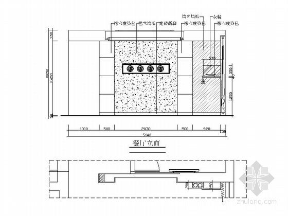 时尚三居室装修施工图(含效果图) 立面图