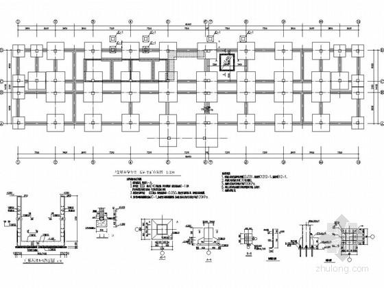 [山东]地上四层框架结构服务中心结构改造施工图