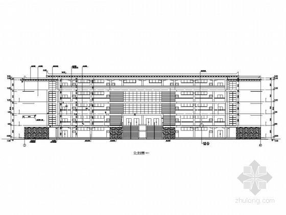 [四川]五层框架结构寄宿制学校教学楼结构施工图(含详细建筑图)