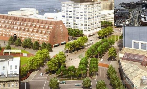 [罗斯肯尼]滨水码头地区公园景观规划设计方案(英文方案)-鸟瞰图