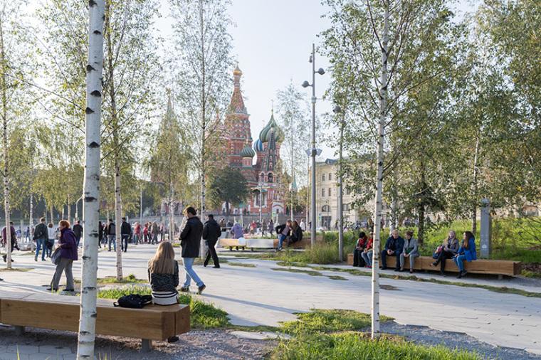 莫斯科zaryadye公园
