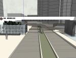首创-海思生活居住区入门景观SU模型设计