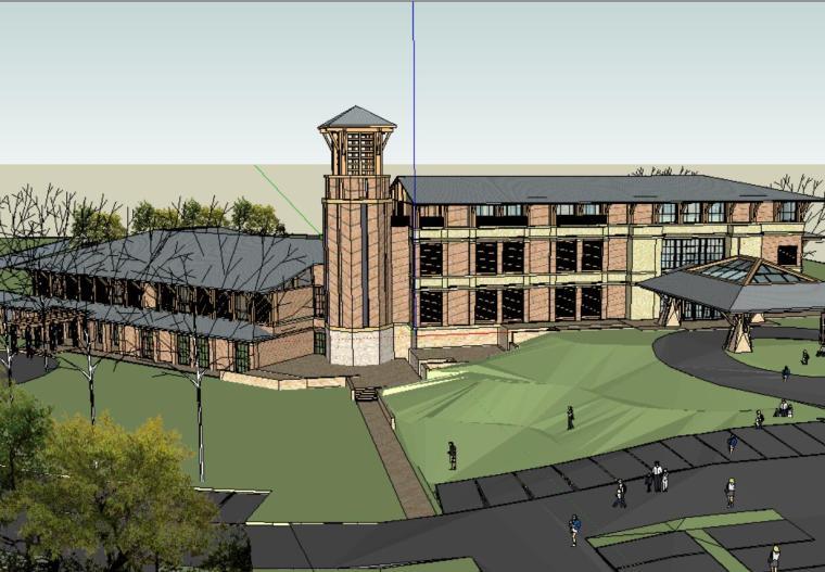高尔夫俱乐部.建筑模型设计