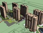 龙湖济南奢系居住区建筑SU模型