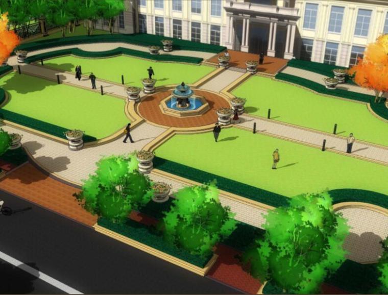 [辽宁]沈阳中海车辆厂居住区项目景观方案设计(欧洲新古典宫廷风格)