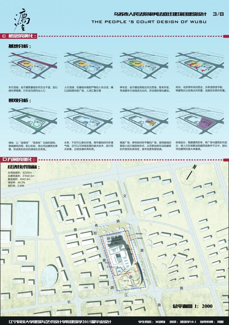 乌苏市人民法院审判法庭迁建项目建筑设计_4