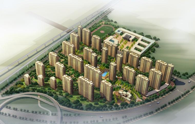 [安徽]大型综合性居住区规划项目设计方案文本(JPG+CAD)